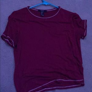 Cute red cropped tee from Forever 21.
